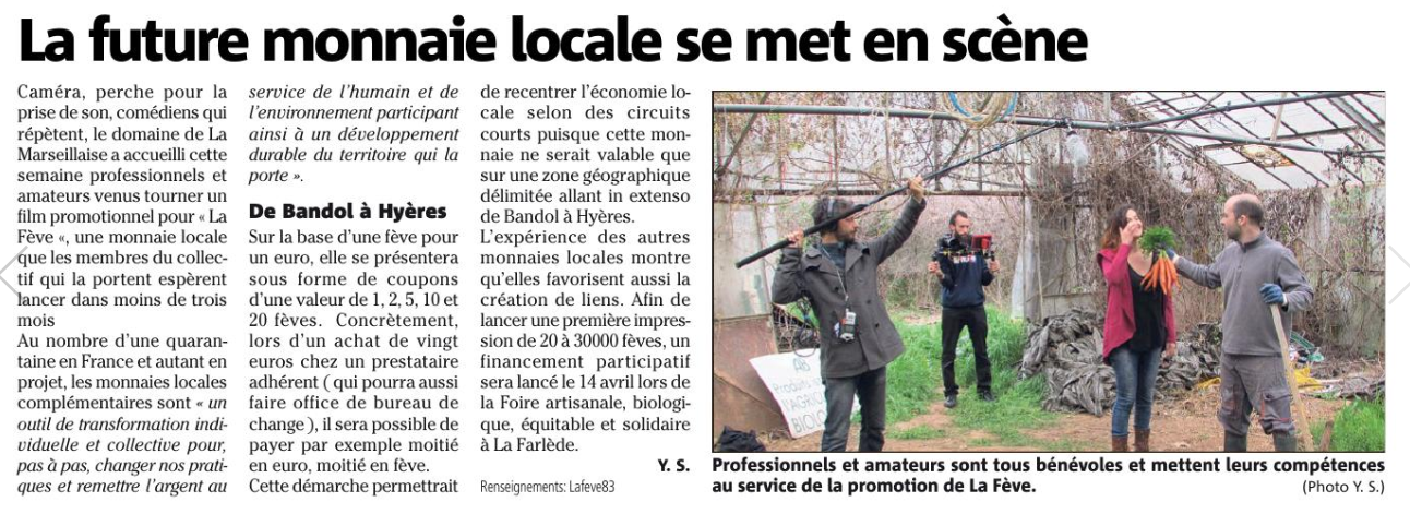 Article Var Matin 7 avril 2018